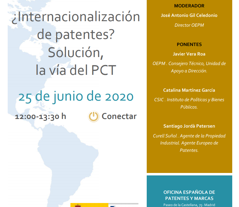 OEPM Webinar on Patent Internationalisation with Catalina Martínez