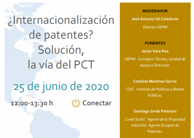 OEPM Webinar on Patent Internationalisation with Catalina Martínez June 2020