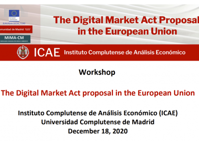 The Digital Market Act Proposal in the European Union December 2020