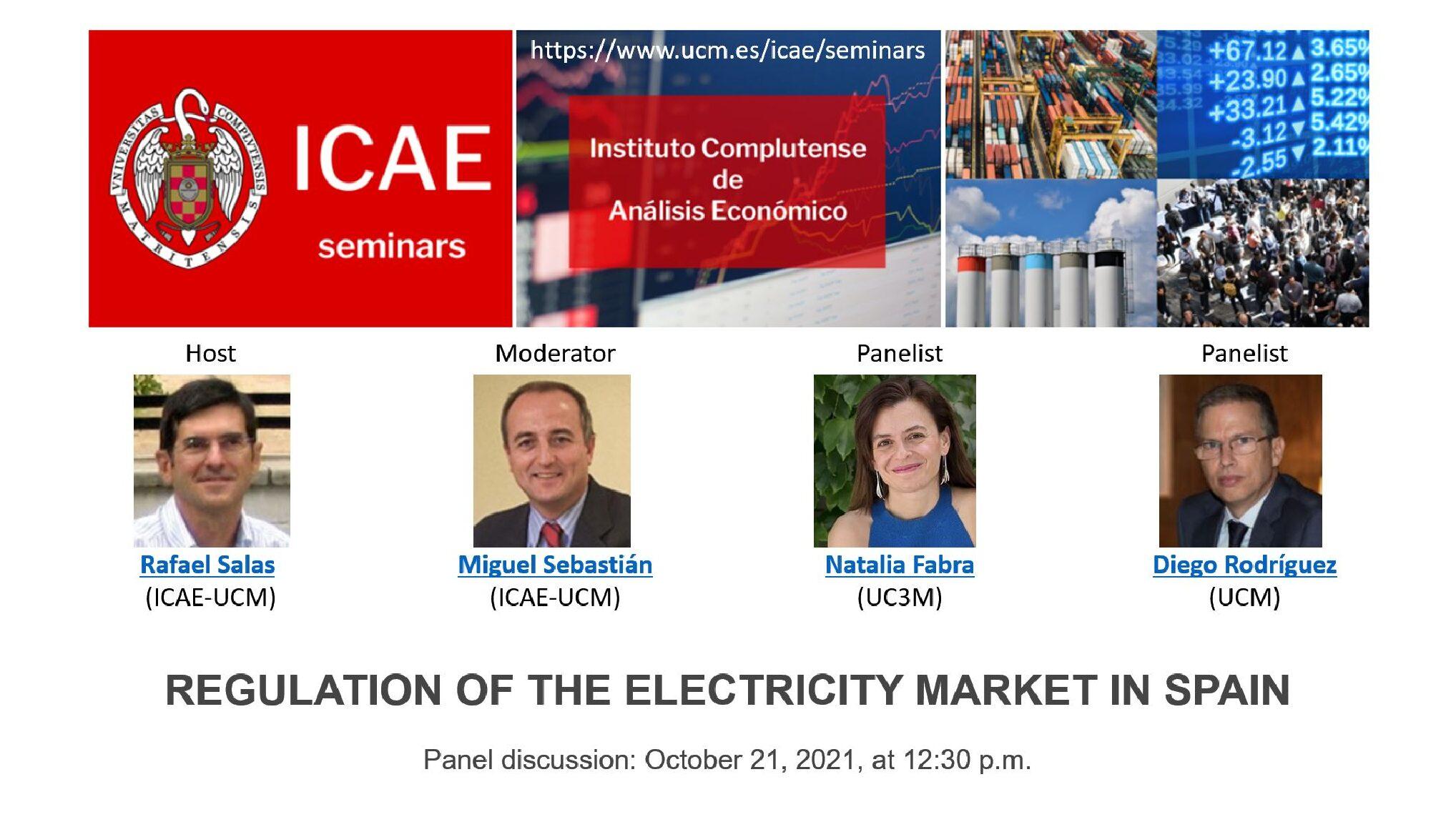 Mesa Redonda ICAE: Sector Eléctrico en España